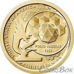 1 Доллар 2019 Вакцина против полиомиелита