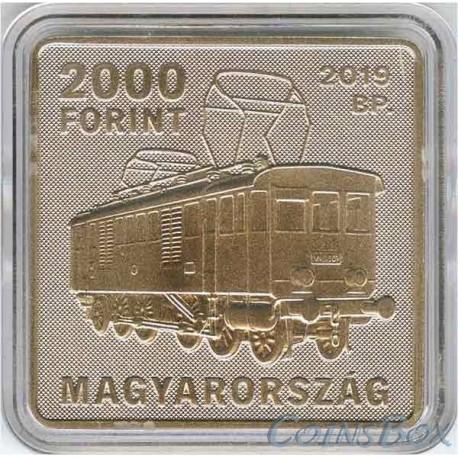 Венгрия 2000 форинтов 2019 Кандо Кальман. Трамвай