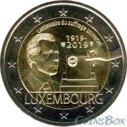 Luxembourg 2 Euro 2019 100 years of universal suffrage.