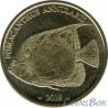 Самоа 10 франков 2018 Рыба Ангел