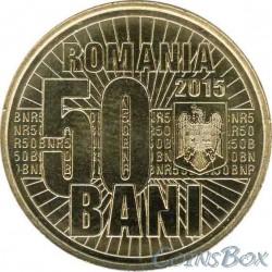 Румыния 50 бани 2015. 10 лет деноминации валюты