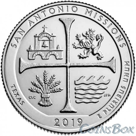 25 cents 2019 49th San Antonio Mission National Historic Park