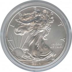 США 1 доллар 2014 Шагающая свобода. Орел.