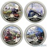 Niue 2 dollars 2010 Famous steam locomotives. Set of coins 4 pcs.