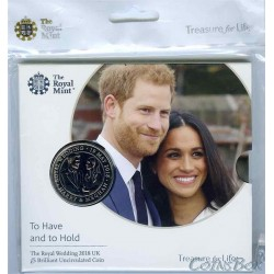 United Kingdom 5 Pounds 2018 Royal Wedding Prince Harry and Meghan Markle