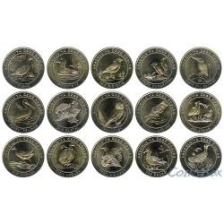 Turkey 1 kurush 2018. Set of coins 16 pcs. Birds of Anatolia