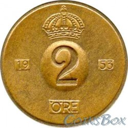 Sweden 2 Ore 1953