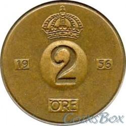 Sweden 2 Ore 1956