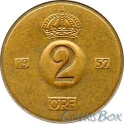 Sweden 2 Ore 1957