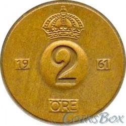 Sweden 2 Ore 1961 (TS)