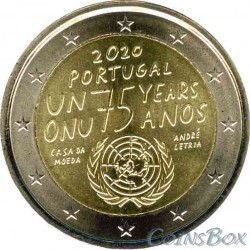 Portugal 2 euros 2020 75 years of the UN