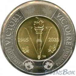 Canada $ 2 2020 75th Anniversary of Victory in World War II