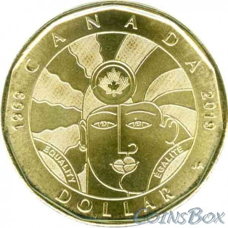 Canada 1 dollar 2019 Equality. 50 years of decriminalization of homosexuality in Canada