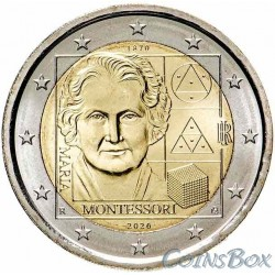 Italy 2 euro 2020. 150th anniversary of the birth of Maria Montessori