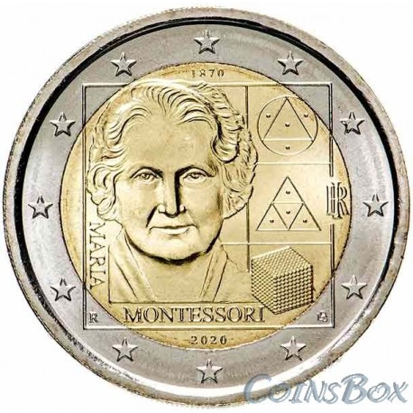 Italy 2 euro 2020. 150th anniversary of the birth of Maria Montessori