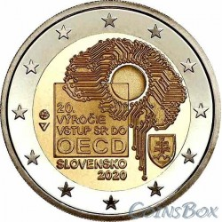 Slovakia 2 euro 2020. 20 years of joining the OECD