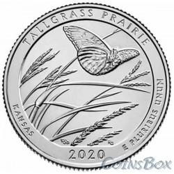 25 cents 2020 55th Tallgrass Prairie National Wildlife Refuge