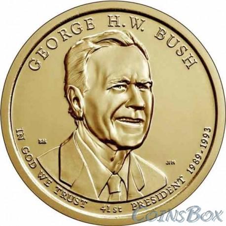 1 dollar. 41st President of the United States. George W. Bush. 2020
