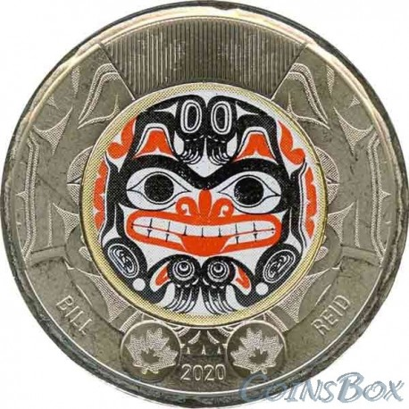 Canada 2 dollars 2020 100th anniversary of the birth of Bill Reed Color