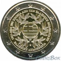 Greece 2 euro 2021.200 years of the Greek revolution