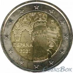 Spain 2 euro 2021. Toledo old town