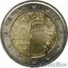 Испания 2 евро 2021 год.  Старый город Толедо
