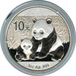 10 юаней 2012. Панда. Серебро