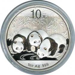 10 юаней 2013. Панда. Серебро