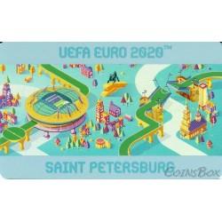 Transport card Plantain. UEFA EURO 2020 foil
