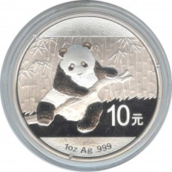 10 юаней 2014. Панда. Серебро