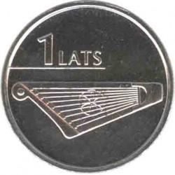 Latvia 1 lats 2013 Harp