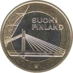 Финляндия 5 евро 2012 Лапландия (Lappi). Вантовый мост