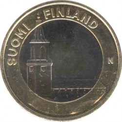 Finland 5 Euro 2013 Cathedral in Turku (Varsinais)