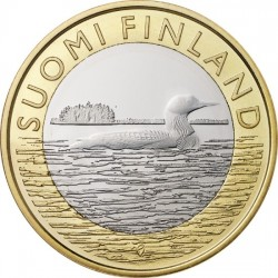 Finland 5 Euro 2014 Savo. Black-throated Diver