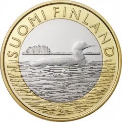 Финляндия 5 евро 2014 Саво. Чернозобая Гагара
