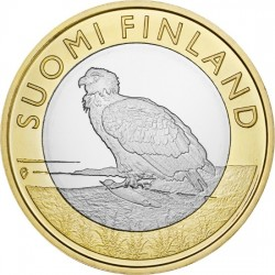 Finland 5 Euro 2014 White-tailed Eagle. Aland Islands