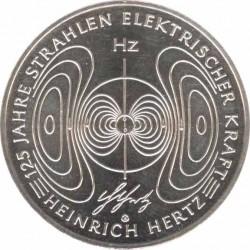 10 евро 2013 125 лет Генрих Герц