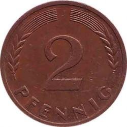 Германия 2 пфеннига 1968 J