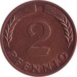 Германия 2 пфеннига 1969 G