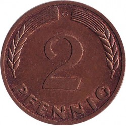 Germany 2 pfennig 1969 G