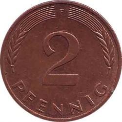 Германия 2 пфеннига 1983 F