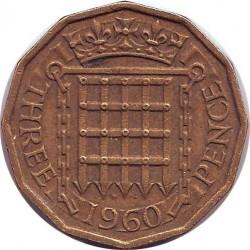 Англия 3 пенса 1960