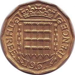 Англия 3 пенса 1967