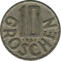 Austria 10 groschen 1951
