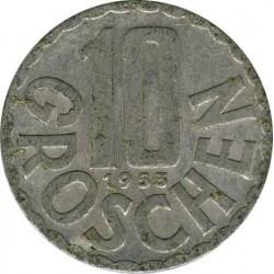 Austria 10 groschen 1953