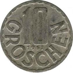 Австрия 10 грошей 1957