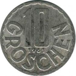 Австрия 10 грошей 1961