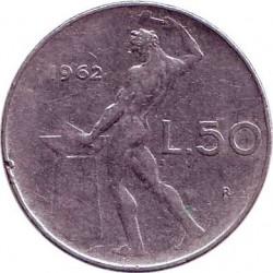 Италия 50 лир 1962 год