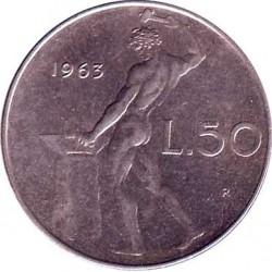 Италия 50 лир 1963 год
