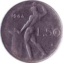 Италия 50 лир 1964 год